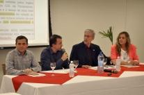 Murilo Flores (PSB) em encontro na CDL Florianópolis: ?vamos trabalhar com metas e transparência?