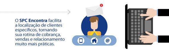 O SPC Encontra facilita a localização de clientes específicos, tornando sua rotina de cobrança, vendas e relacionamento muito mais práticas.